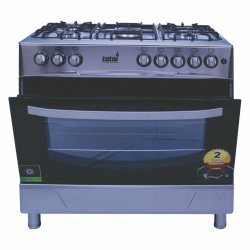 TOTAI 5 Burner Gas Stove With Electric Oven Stainless Steel - 03 T800E