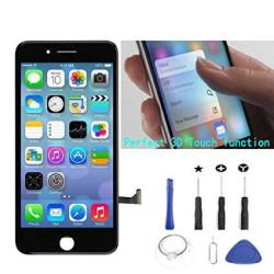 PassionTR Black Replacement Lcd Screen Compatible With Iphone 7 4.7 Inch Display Digitizer Assembly Full Complete Front Glass Wi