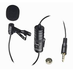 Canon ZR-30MC Camcorder External Microphone Vidpro Xm-l Wired Lavalier Microphone - 20' Audio Cable - Transducer Type: Electret Condenser
