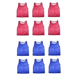 Nylon Mesh Scrimmage Team Practice Vests Pinnies Jerseys For Children Youth Sports Basketball Soccer Football Volleyball 12 Jers