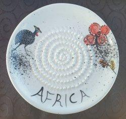 Guinea Fowl Flower African Grater Plate