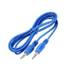 Astrum Aux 3.5MM Jack Cable 3.5MM Male - 3.5MM Male Molded Connectors 1.5METER Blue