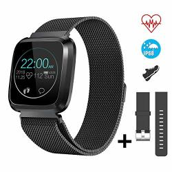 Catshin Smart Watch Fitness Tracker Watch With Heart Rate MONITOR-CS08 Waterproof IP68 Pedometer Sms Camera Music Control Sleep Monitor For Android ios Swimming Smartwatch For