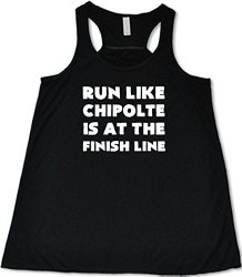 Constantly Varied Women's Run Like Chipotle Is At The Finish Line T XL Black