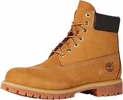 Timberland Men's 6 Inch Premium Waterproof Boot Fashion Wheat Nubuck 14