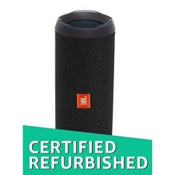 EWarehouse Jbl Flip 4 Portable Waterproof Bluetooth Speaker Factory Renewed Black