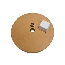 """6"""" 3 4"""" Width Leather Honing Wheel - Fits 5 8"""" Arbor - Buffing Compound Included"""