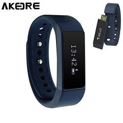 AKEDRE Smart Bracelet Fitness Tracker Sport Wrist Bluetooth 4.0 Pedometer Tracking Calorie Health S