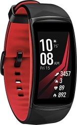 Refurbished Samsung Gear Fit 2 Pro Small Fitness Smartwatch in Red