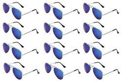 JF Store Wodison Classic Kids Aviator Sunglasses Bulk Metal Frame Children Party Eyeglasses 12 Packs