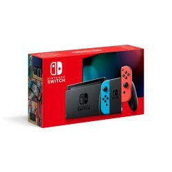 SWITCH Nintendo Console With Neon Red And Neon Blue Joy-con
