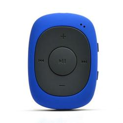 AGPtek G02 8GB Clip MP3 Player With Fm shuffle Portable Music Player With Sweatproof Silicone Case For Sports Blue