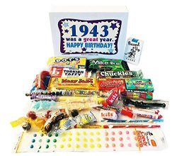 Woodstock Candy 1943 76TH Birthday Gift Box Nostalgic Retro Mix From Childhood For 76 Year Old Man Or Woman Born Jr