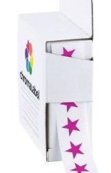 Chromalabel.com Chromalabel 3 8 Inch Color-code Star Labels 1 000 DISPENSER Box Fluorescent Purple
