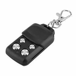 Yosoo 433MHZ Garage Gate Copy Ceiling Fan Remote Control Universal Home Security Duplicator 4-BUTTON Black Door Opener Alarms
