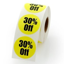 """LabelValue.com 30% Off Retail Round Pricing Label Stickers 1.5"""" - 500 Labels Per Roll 1 Roll Per Package"""