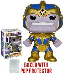 USAB Funko Pop Guardians Of The Galaxy - Thanos 6-INCH Vinyl Figure Bundled With Pop Box Protector Case