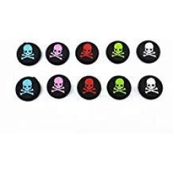 5 Pairs Skull Thumb Stick Grip Cover Caps For PS4 PS3 Xbox One Xbox 360 PS2