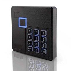 Proximity Rfid Id Card Door Access Control Keypad Reader 125KHZ Wiegand 26 34 Bit Black Color