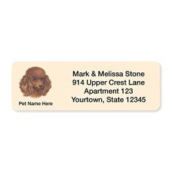 Brown Poodle Set Of 215 Sheeted Address Labels