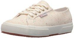 Superga Women's 2750 Specklew Sneaker White multi 38 M Eu 7.5 Us