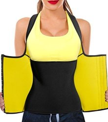 b972cd784f6 Women Neoprene Body Shaper Sauna Suit Gym Workout Tank Top Vest With Adjustable  Waist Trainer Trimmer Belt XL Black Sauna Waist