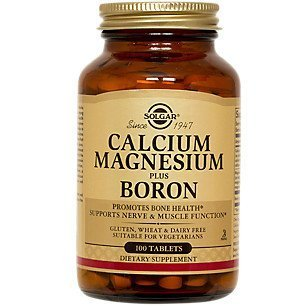 Solgar Calcium Magnesium Plus Boron Tabs 100
