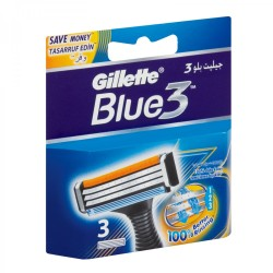Gillette Blue3 Mens Blades Refill Cartridge Pack 3s