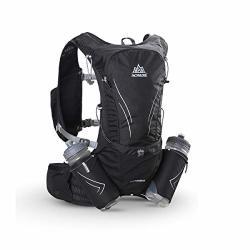 Triwonder 15L Ultra Running Vest Marathon Backpack Hydration Pack With Water Bottles Black - With 2 Water Bottles