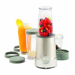 Bella 13330 Personal Size Rocket Blender 12 Piece Set Stainless Steel & Chrome Perfect For Smoothies & Health Drinks Grinding Ch