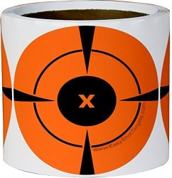 200 Mega-pack 4-INCH Bullseye Target Stickers Buy 1 Roll & Get 1 Free 100 Targets Per Roll - You Get A Whopping Total Neon Orang