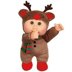 Cabbage Patch Cuties Cocoa Reindeer 9 Inch Soft Body Baby Doll - Holiday Helper Collection