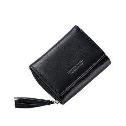 Weichen Womens Leather Clutch Wallet With Tassel Pendant Design