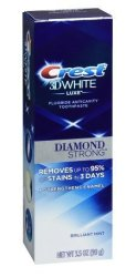 Procter & Gamble Crest 3D White Luxe Diamond Strong Brilliant MINT3.5 Oz. Pack Of 2