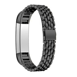 Coohole New Fashion Stainless Steel Watch Band Wrist Strap For Fitbit Alta Hr Smart Watch Black