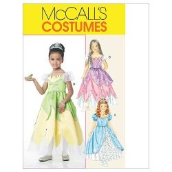 Mccall's Patterns M6183 Children's girls' Princess Costumes Size Cl 6-7-8