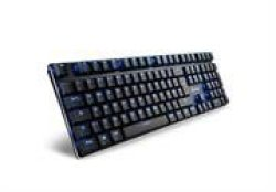 Sharkoon Purewriter Mechanical USB Lkeyboard With Nuetral Blue LED Illumination - 1000HZ Max Polling Rate - Blue Switch Retail B