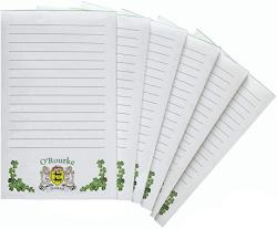 USA O'rourke Irish Coat Of Arms Notepads - Set Of 6