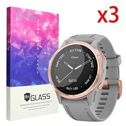 For Garmin Fenix 6S Sapphire Screen Protector Blueshaw 9H Tempered Glass Screen Protector Fenix 6S Sapphire Smartwatch - 2019 3 Pack
