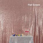 Rose Gold Partydelight Sequin Backdrop Booth Photography 6X6 Ft