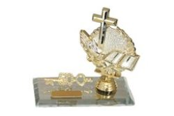 Cross Bible And Praying Hand Birthday Key