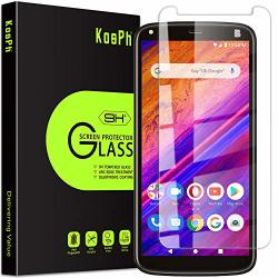 3-PACK Kosph For Blu G5 Plus Tempered Glass Screen Protector 9H Anti-scratch 2.5D Arc Edge Oleophobic Coated Sensitive Touch High Clarity Flat Area Coverage Clear