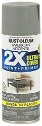 Rust-oleum 327931-6PK American Accents Ultra Cover 2X Satin 6 Pack Granite