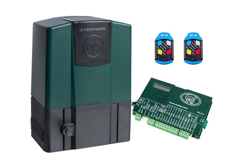 Centurion D5 Evo Gate Motor with 2x Nova 4x Button Gate Remotes