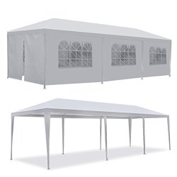 F2C 10'X30' Outdoor Gazebo White Canopy With Sidewalls Party Wedding Tent Cater Events Pavilion Beach Bbq 10'X30'