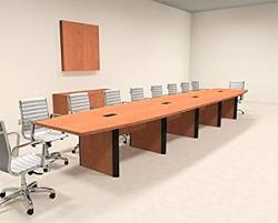 Modern Boat Shaped 20' Feet Conference Table OF-CON-CP26