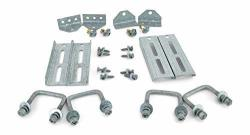 "Sturdy Built 4 8"" Galvanized Swivel Top Bunk Bracket Kit With Hardware For 2X3 Boat Trailer Crossmember"