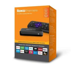 Roku Premiere HD 4K HDR Streaming Media Player with Simple Remote & HDMI Cable