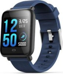 Ntech Q9 Bluetooth Smart Watch With Heartrate Monitor - Blue