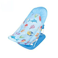 Portable Comfortable Foldable Shower Support Chair - Blue